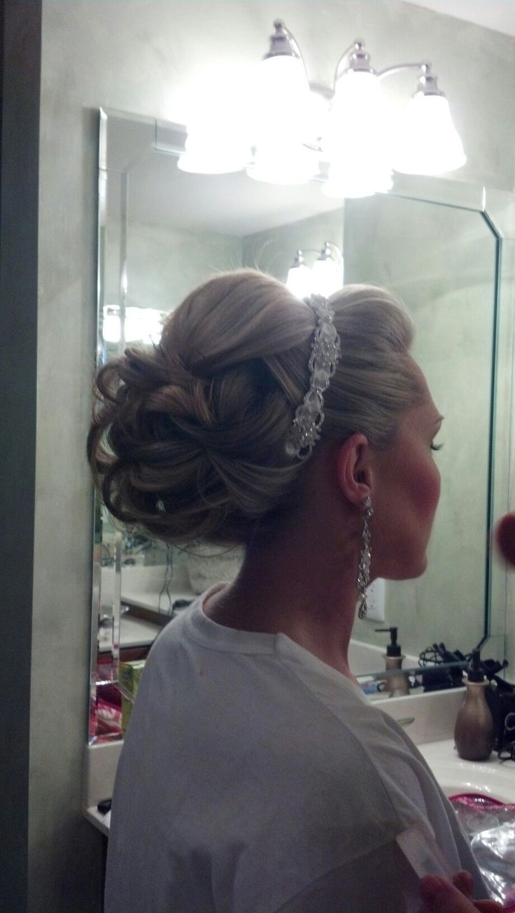 Love the volume in the front and back. Great bridal up-do! My Big Day Events, Colorado Wedding Planning, Event Planning, Corporate Events, Bridal Showers, Party Planning & More! http://www.mybigdaycompany.com/weddings.html