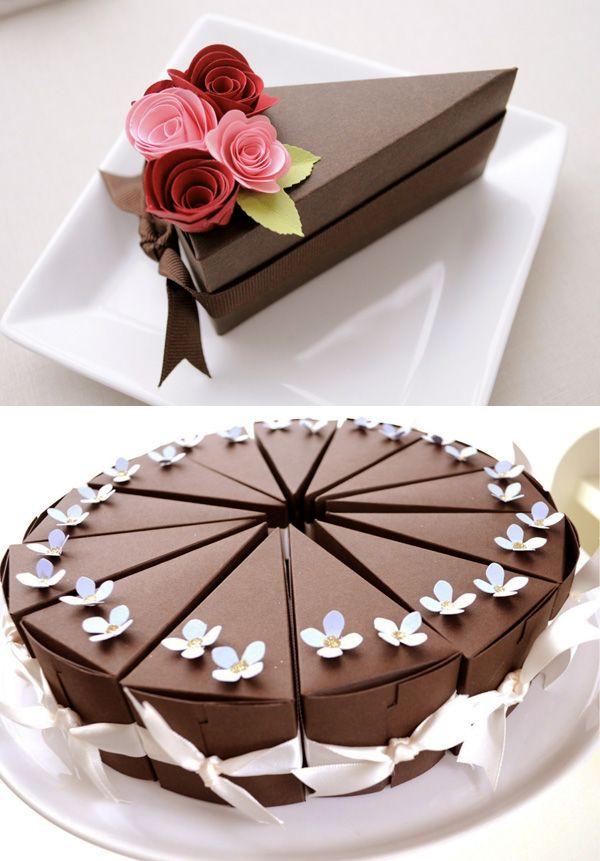 presentación de las cajas para tortas