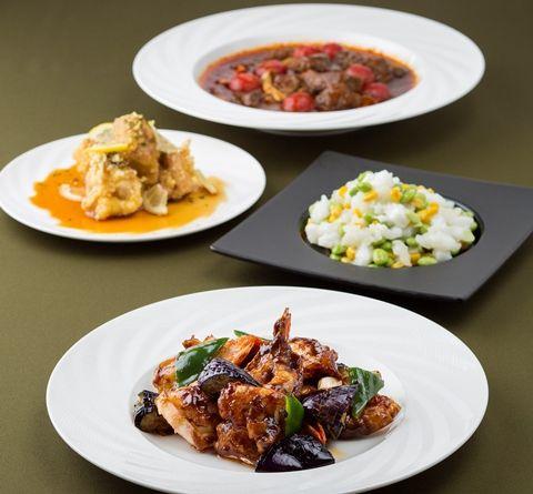 シェラトン都ホテル東京 中国料理「四川」本格中華「禄コース」+15種類より選べる2ドリンク付