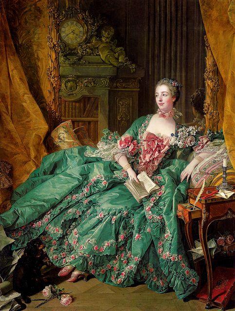 ('Portrait of Madame de Pompadour' - 1756 by François Boucher) Jeanne-Antoinette Poisson, Marquise de Pompadour (Paris, 29 de dezembro de 1721 — Versalhes, 15 de abril de 1764), mais conhecida como Madame de Pompadour, foi uma cortesã francesa e amante do Rei Luís XV da França considerada uma das figuras francesas mais emblemáticas do século XVIII.