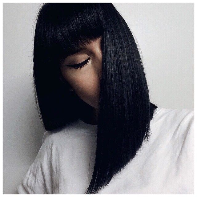 Fresh  + ....blue black lob (cut entirely with clippers!) by @adrienfiorio
