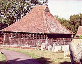 East Bergholt - Wooden Belltower at East Bergholt Church © Diana Hitchin