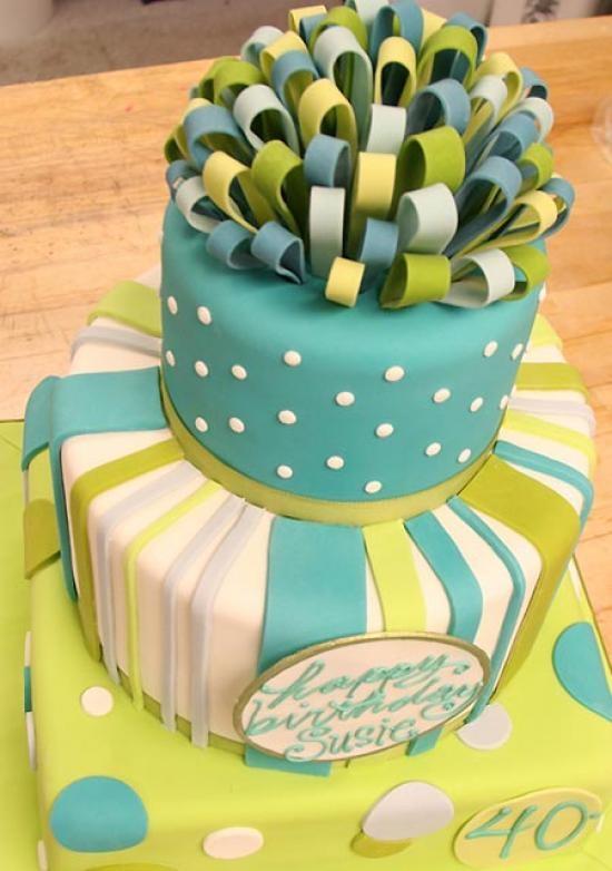 40th birthday cake!  Cake by White Flower Cake Shoppe