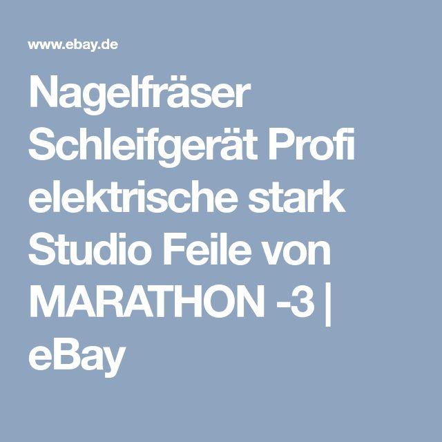 Nagelfräser Schleifgerät Profi elektrische stark Studio Feile von MARATHON -3 | eBay