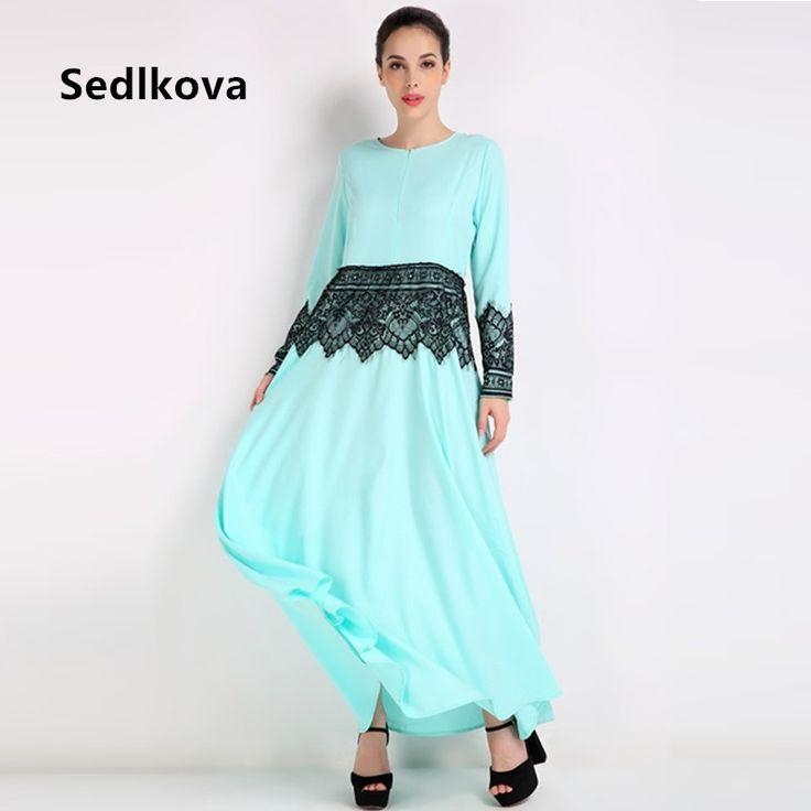 Muslim Woman Lace Malaysia Kaftan Abaya/Dubai Service Robe Long Dress Abaya/Girl Turkish Saudi Moroccan Islamic Abaya Maxi Dress #Affiliate