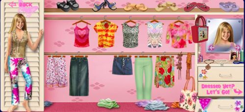 I loved playing the Lizzie dress up game online. Disneychannel.com