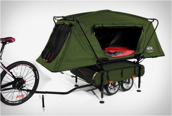 Vous aimez les ballades en vélo ? Prolongez le plaisir en dormant à la belle étoile avec cette remorque tente pliante pour vélo !