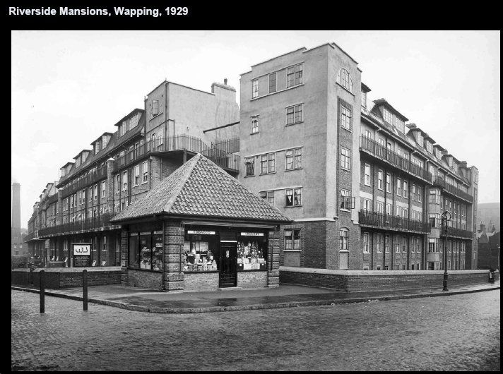Riverside Mansions, Wapping, 1929