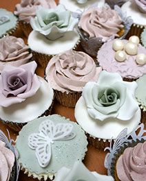 Lovely cakes by Ever After Wedding Cakes.