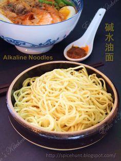 A taste of memories -- Echo's Kitchen: Homemade Yellow Noodles (Alkaline Noodles)