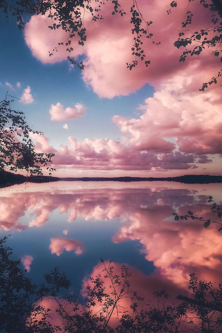 Cotton Candy Sunset  #BeautifulNature #NaturePhotography #Nature #Photography #Sunsets #Reflections