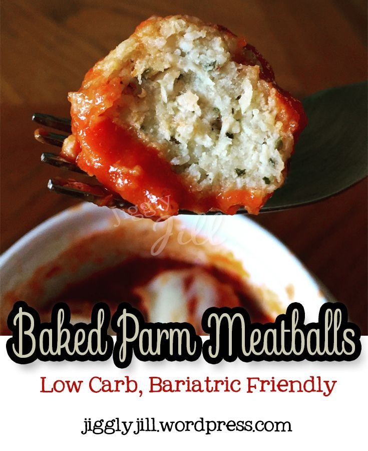 Low Carb, Bariatric Friendly Baked Parm Meatballs - so easy and mega tasty!