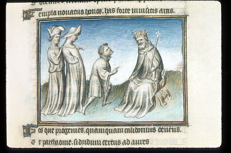 Publius Papinius Statius Thebais , with the argumenta antiqua; Achilleis, Francja, ok. 1405, f19