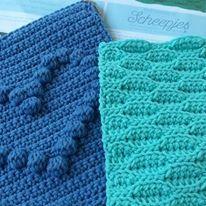 mooi groen en blauw, voor de lapjesdeken
