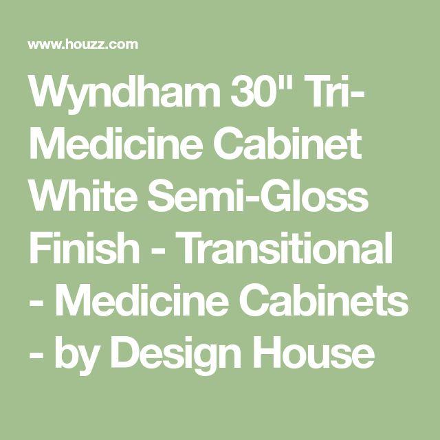 "Wyndham 30"" Tri- Medicine Cabinet White Semi-Gloss Finish - Transitional - Medicine Cabinets - by Design House"