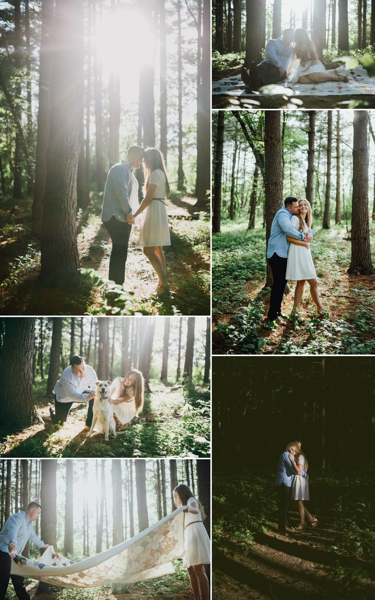 light drenched woodland engagement photos - St. Louis Engagement Photography - Charis Rowland Photography - creative photos - artistic photography - woodsy - romantic - modern - intimate