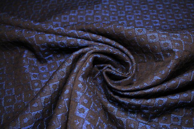 Tessuto al metro: tessuto jacquard di cotone, con disegni geometrici in rilievo di UMEfabrics su Etsy