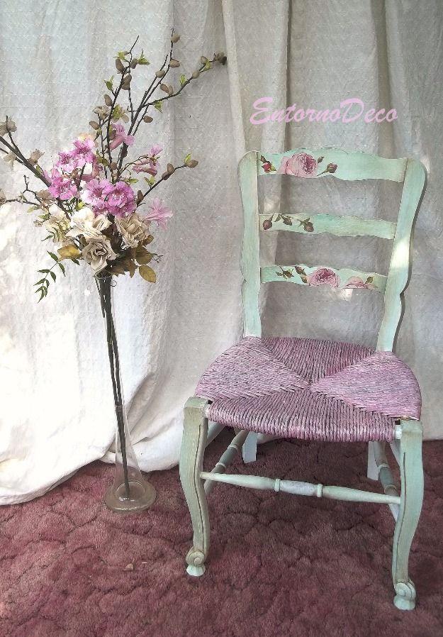 M s de 25 ideas incre bles sobre sillas restauradas en - Sillas estilo provenzal ...