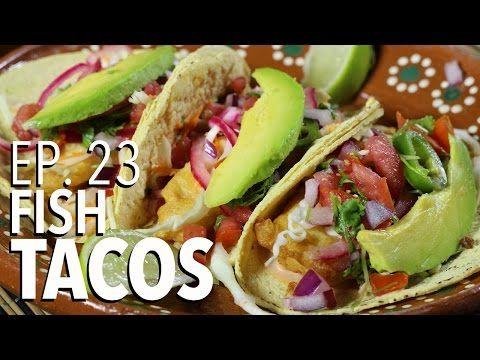 BAJA FISH TACOS ! TACOS DE PESCADO ESTILO ENSENADA !!! CABALLEROS POBRES - YouTube