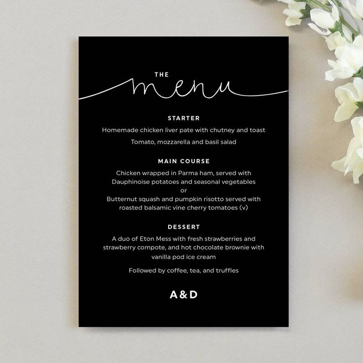 Kate Wedding Menu Cards                                                                                                                                                     More