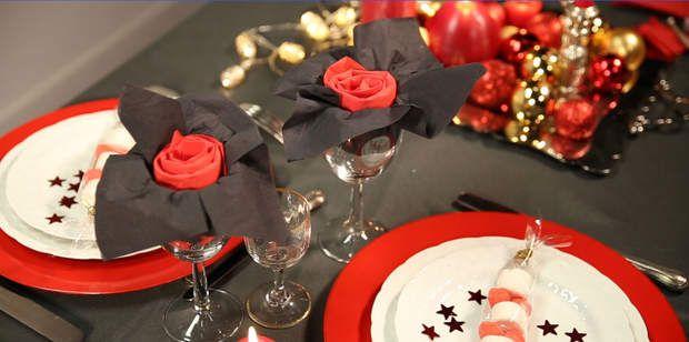 Le pliage de serviette fleurVidéo de Noël : La serviette fleur