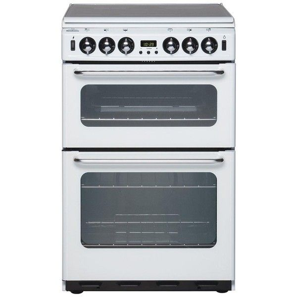 New World 550Tsidom 55Cm Wide Double Oven Gas Cooker ($580) ❤ liked on Polyvore featuring home, kitchen & dining, small appliances, potato cooker, steak grill, potato oven, burner grill and door grill