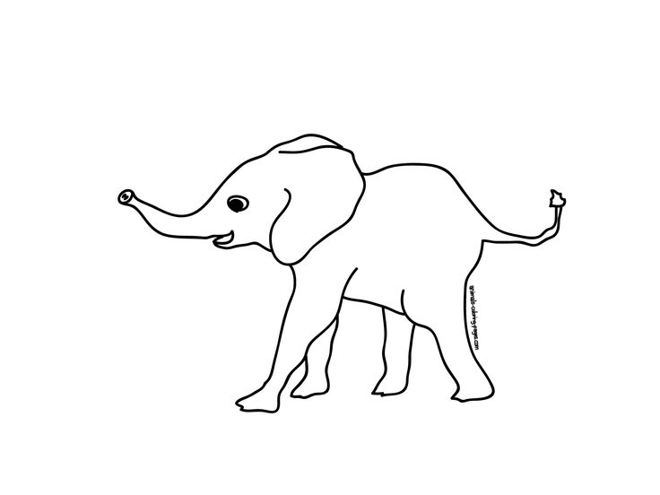 nice coloring picture of an elephant Free Download