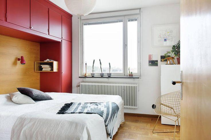 Sypialnia z zabudową