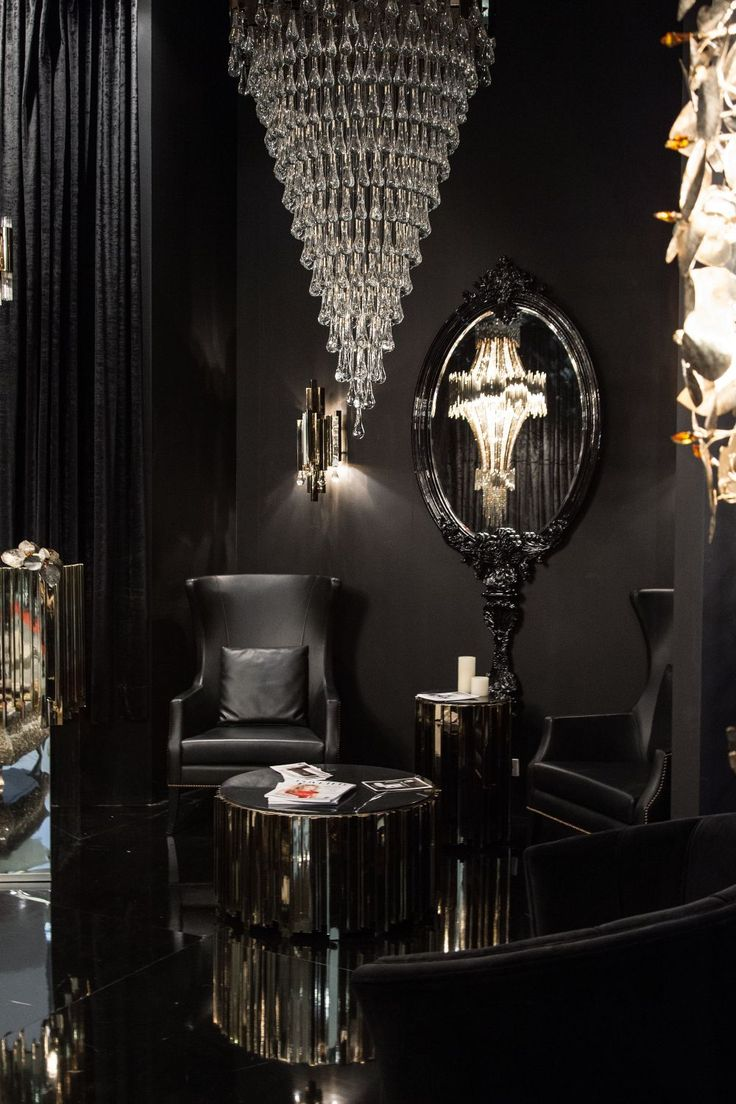 Ebony interior design for masculine design