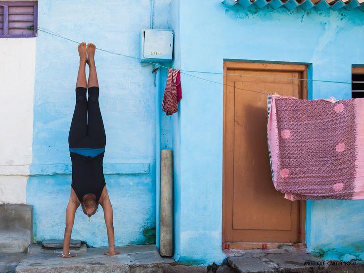 Yoga handstand India #ACY