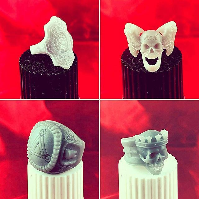 Ecco le fantastiche stampe del nostro cliente Ronny Raimondi con la Form2 di Formlabs! #Bilcotech #3D #3Dprint #3Dprinter #stampa3D #tecnologia #tecologiaSLA #Formlabs #Form2 #resine #resinagrigia #standard #Meccatronicore #BBcure #anelli #perfetti #bello #bellissimi #gioielleria #anello #disegno #fantasia #teschio #top #chestampe #cliente #clienticontenti #picoftheday #photo