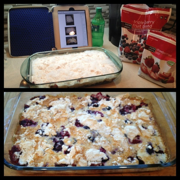Berry Dump Cake With Soda