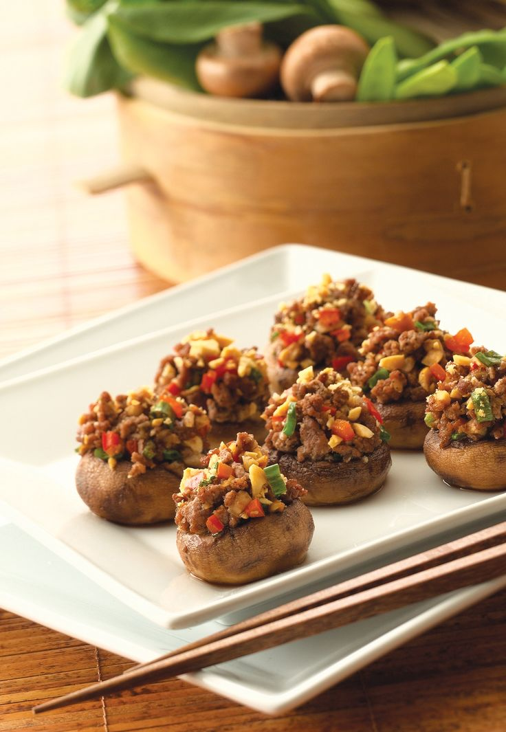 Mushrooms Stuffed with Lamb « Fresh Mushrooms