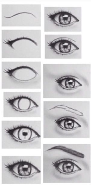 Drawing eyes. I wish I could draw like this! Eyelashes and ...