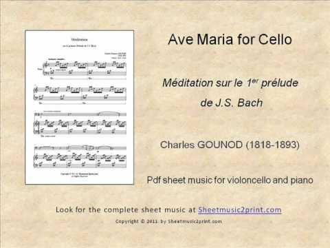 Gounod-Bach : Ave Maria for Cello www.sheetmusic2print.com/Gounod/Cello/Ave-Maria.aspx
