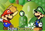 Juego de Mario Feed Yoshi | JUEGOS GRATIS:  Buen juego donde Mario y Lugi tendrá el trabajo de darle de comer a los bebes Yoshis, tu tendrás que calcular la potencia y la dirección del tiro para lanzarles la comida, no desperdicies los tiros ni los huevitos.