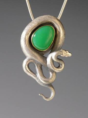 Snake Jewelry, Animal Spirit Jewelry, Handcrafted Silver Snake Pendant