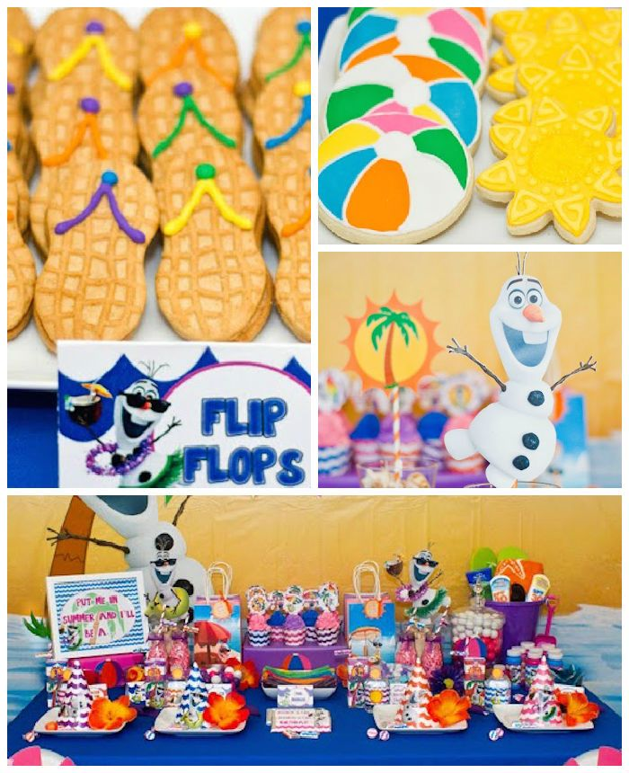Olaf Themed Summer Party