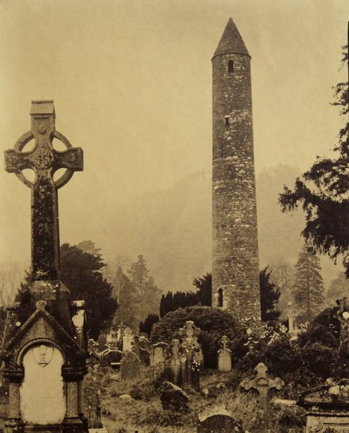 Glendalough Cemetery, Dublin, 1865 , 24 x 20 inches, salt print, 1994