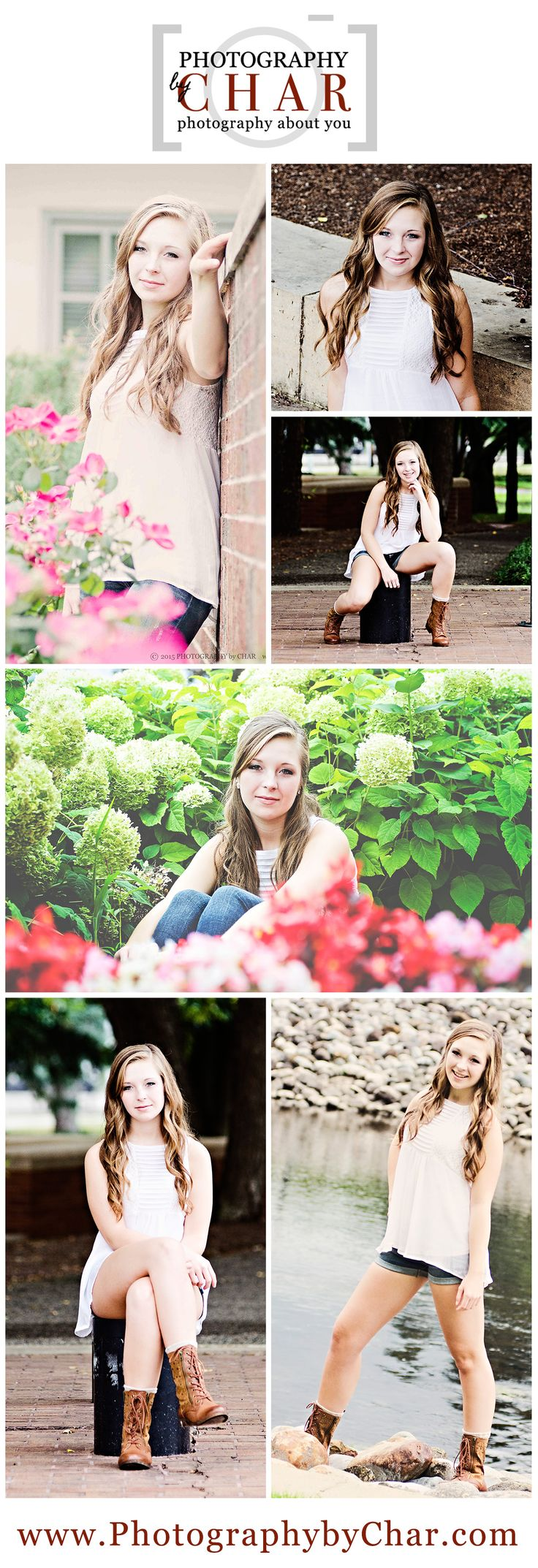 Female Senior Portrait Posing & Location Ideas - Southern Michigan - Downtown Battle Creek - Kalamazoo River - Battle Creek - Senior Portraits - Kellogg Home - Kellogg Gardens