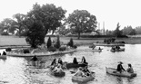 Photo of The Childrens Boating Pool, Wicksteed Park c1955, Kettering