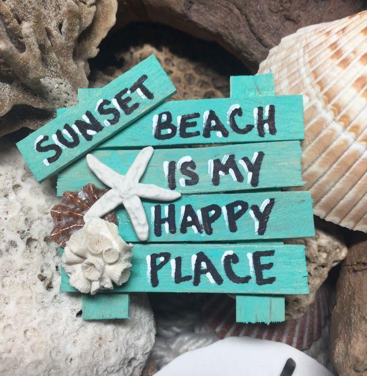 Custom Fridge Magnet - Custom Wall Art  - Beach Art - Beach Sign - Nautical Art - Shell Art - Starfish Decor by BeachSignsandDesigns on Etsy https://www.etsy.com/listing/476500229/custom-fridge-magnet-custom-wall-art