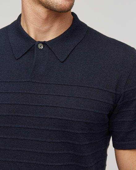 A touch of cashmere features in this breathable, durable cotton Ottoman polo. A wardrobe staple, it features a one-button closure collar, tubular hem at the front and cuff and a ribbed back hem.