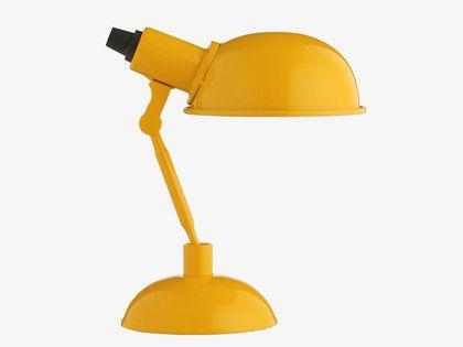 TOMMY YELLOWS Metal Yellow metal desk lamp - HabitatUK