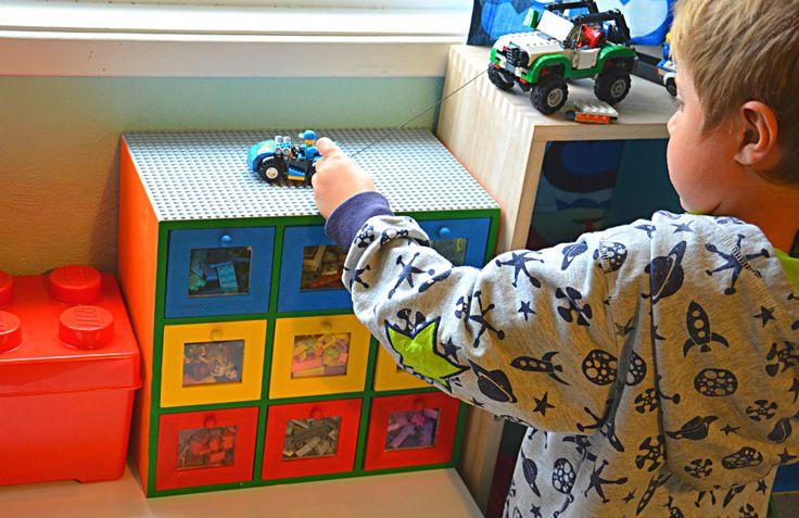 Kreativ med barna - Gjør-det-selv Lego oppbevaring - Idebank for småbarnsforeldreIdebank for småbarnsforeldre