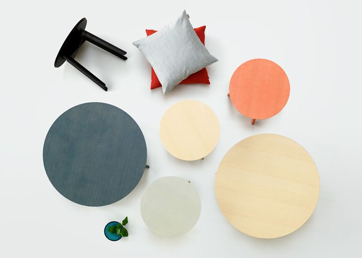 Note Design Studio designs colourful ash tables for Fogia