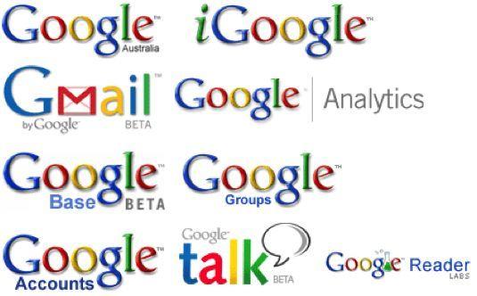 Google sub-brands: