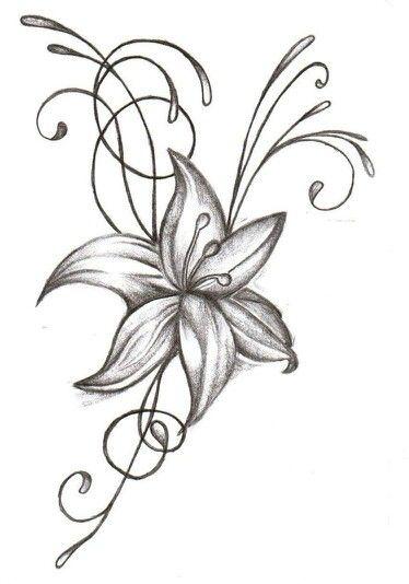 Dessin fleur tatouages que j 39 adore pinterest tatoo - Fleur simple dessin ...