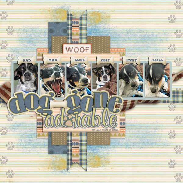 Scrapbook layout great for a pet page Dog Gone or Cat's Meow or ?