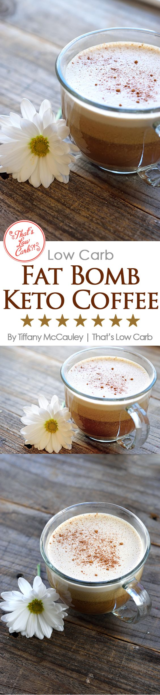 This delicious, low carb, fat bomb, keto coffee is the perfect start to your morning. Full of healthy fats and flavor, you'll come back to this recipe again and again. ~ http://www.thatslowcarb.com